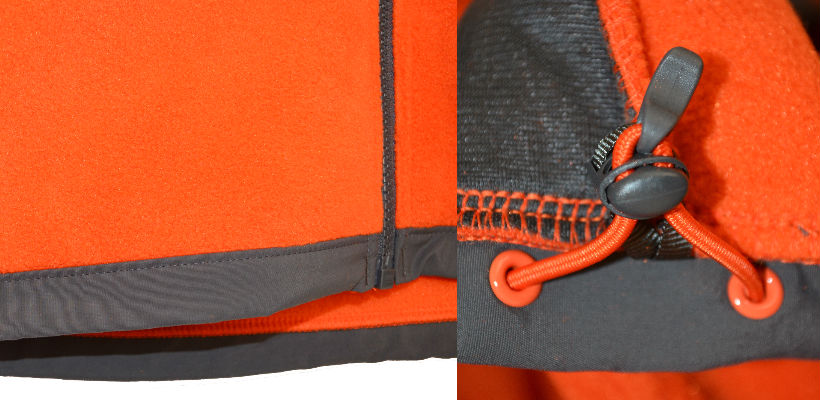 the north face denali ii jacket drawcord detail