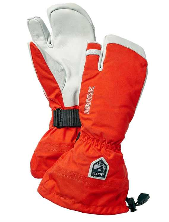 Hestra Army Leather Heli Ski 3 Finger Ski Gloves Escape 2