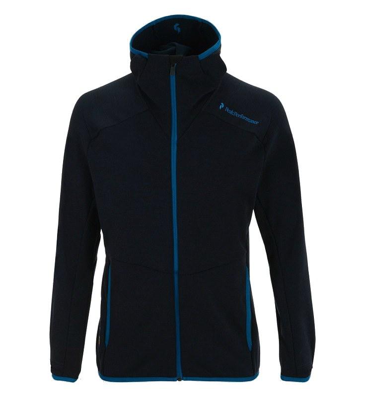 48b222f189a Peak Performance Mens Heli Mid Hood Jacket | Ski Fleece | Escape2